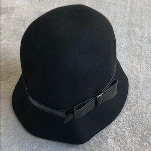 Kate Spade   Black Wool Bow Hat
